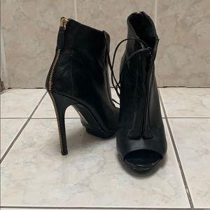 Nine West Boutique 9 Open-toe Leather Bootie